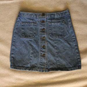 Brandy Melville A-Line Jean Skirt